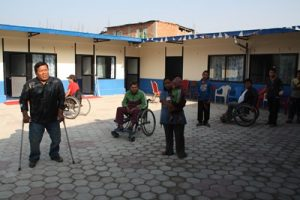 Innenhof des Goldhunga Kathmandu Disabled Sevice Center