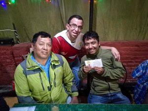 Spendenübergabe von 300,00 EUR für die Gompa – Shree Pema Chholing Monastery in Nakote Helambu.
